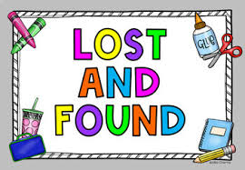 Lost and found sign clip art