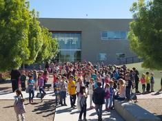 It was a beautiful day in our courtyard to hear poems! Thank you to all who  helped make Poem In Your Pocket Day a success!