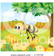 clip art of cartoon bumblebee