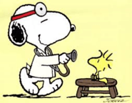 clip art of Snoopy and Woodstock in nurse s office